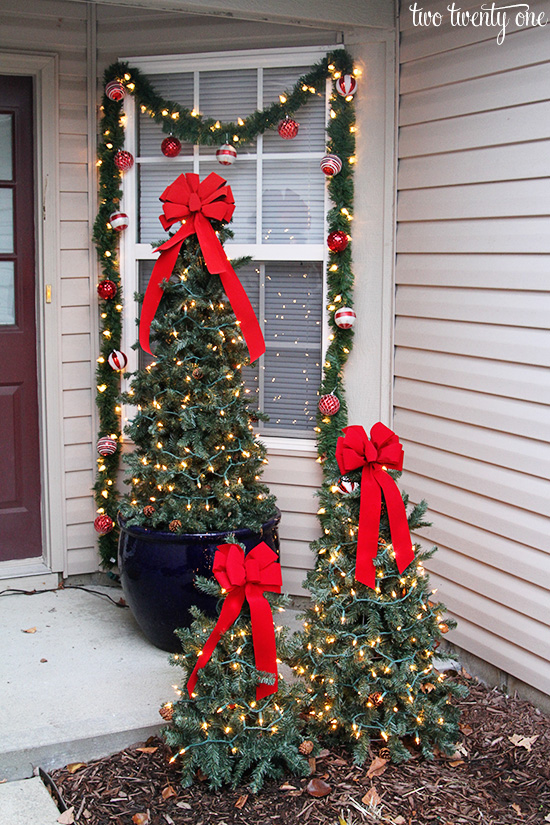 christmas front porch daytime