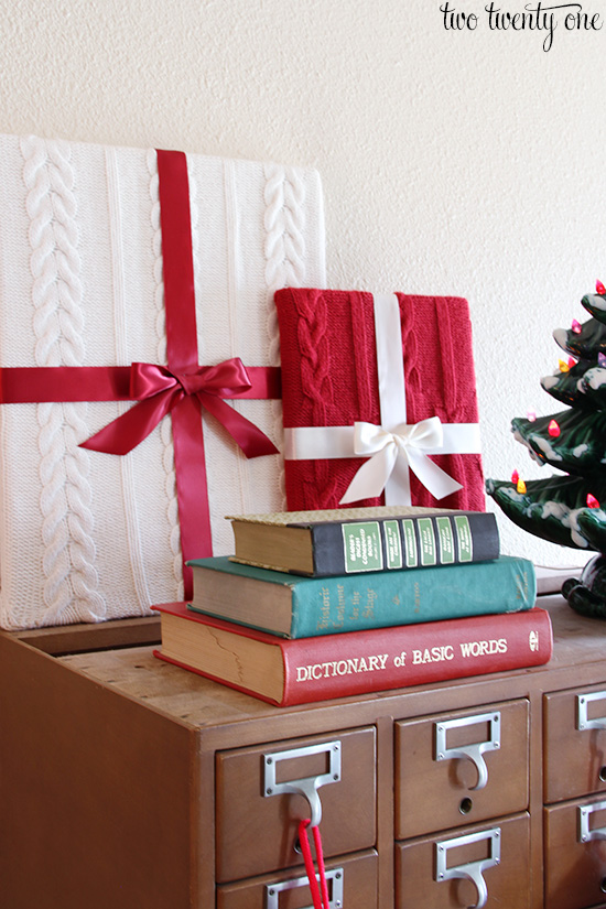 library card catalog christmas