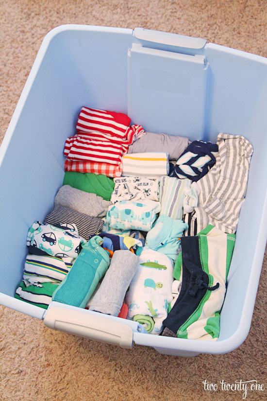 storing baby clothes 1