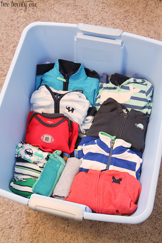 storing baby clothes 2