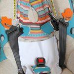 bohemian blue car seat
