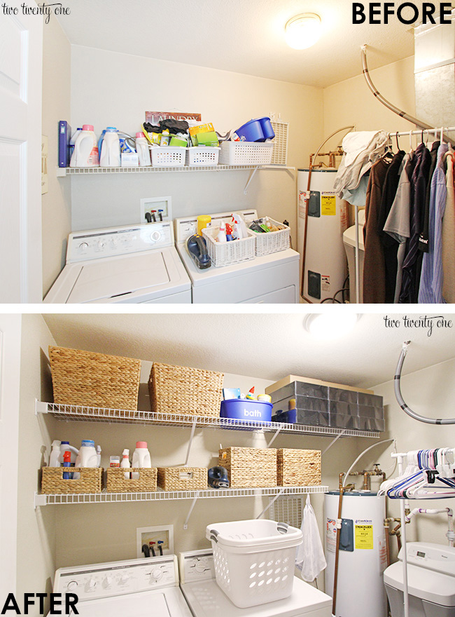 Practical laundry room makeover!