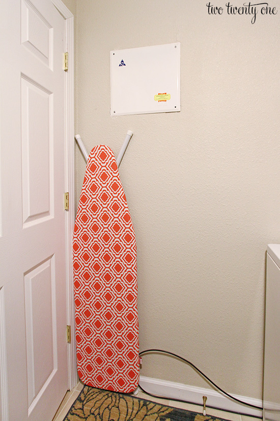 storing ironing board