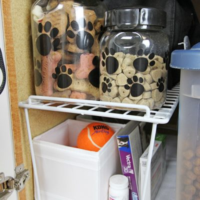 Organized Dog Cabinet