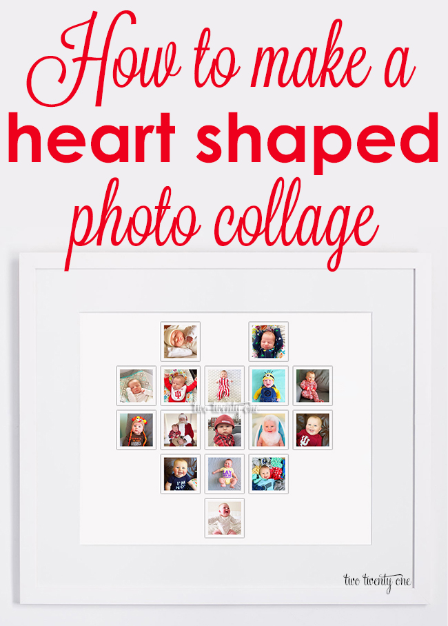 How to make a heart shaped photo collage for FREE!  No Photoshop or fancy software required!