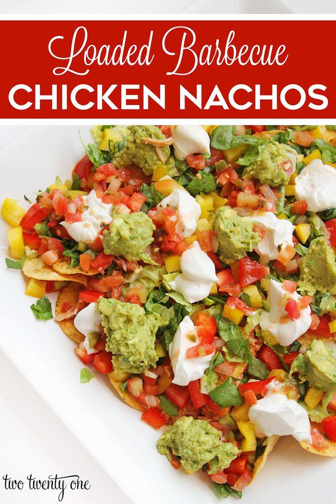 barbecue chicken nachos