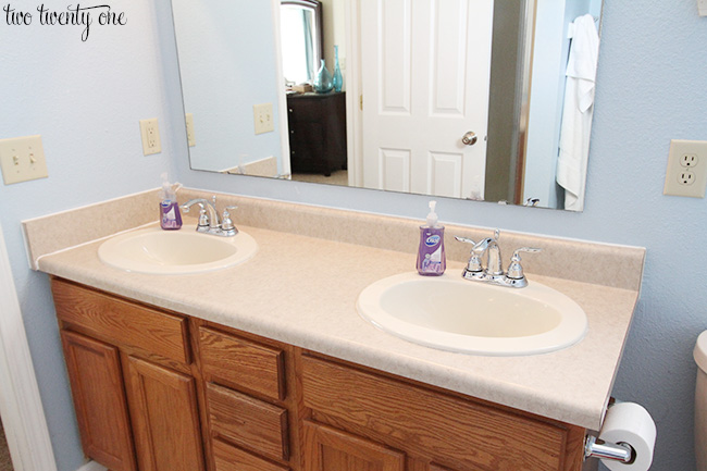 Bathroom Vanity Countertops Giveaway - Painting bathroom vanity laminate