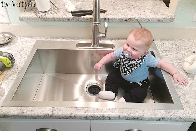 o in sink