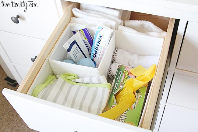 organized dresser. Nursery Dresser Organization Update
