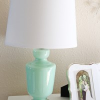 target threshold mint glass lamp