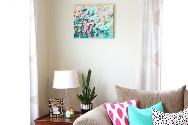 Abstract Florals in home