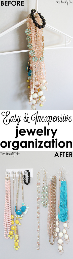 Easy and inexpensive jewelry organizer!