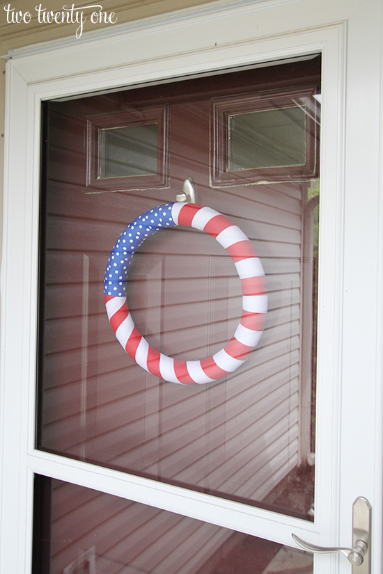 4th of july wreath front door