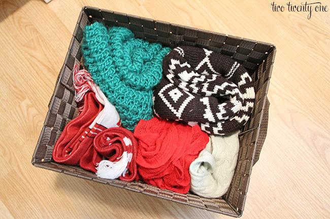 scarf basket