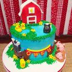 barnyard birthday cake 1