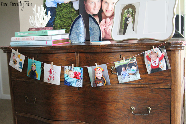 easy birthday photo display