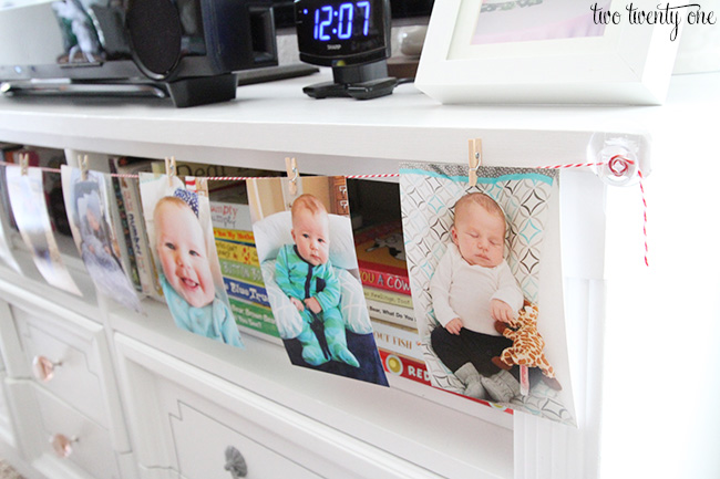 first birthday photo display
