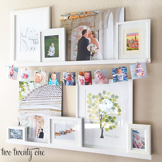 simple birthday photo display
