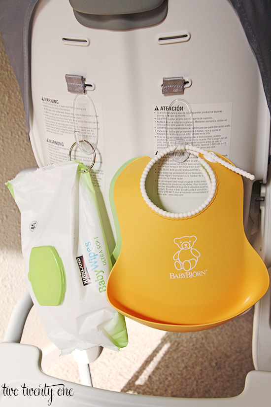 bib storage highchair