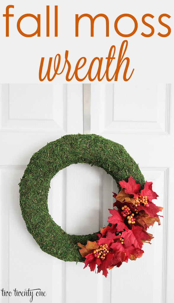 Easy to make fall moss wreath!