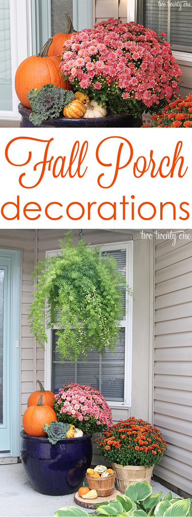 Fall porch decorations!