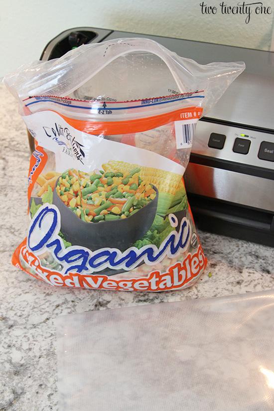 frozen vegetables foodsaver