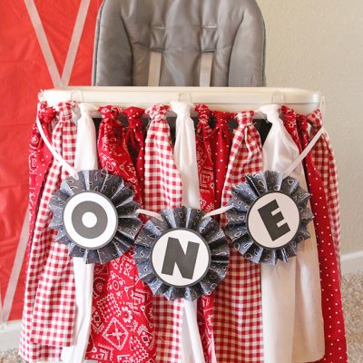 Highchair Fabric Garland
