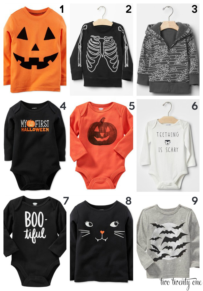 Halloween shirts for babies and toddlers