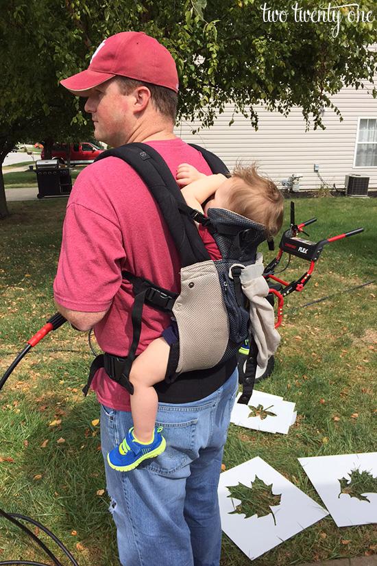 baby wearing DIY