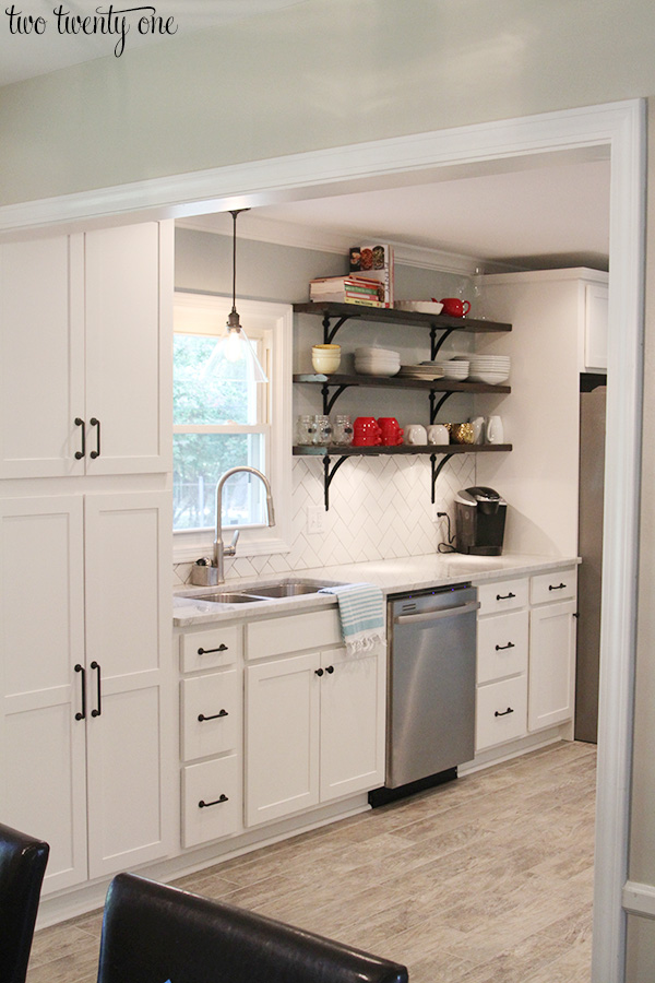 enlarged kitchen entryway