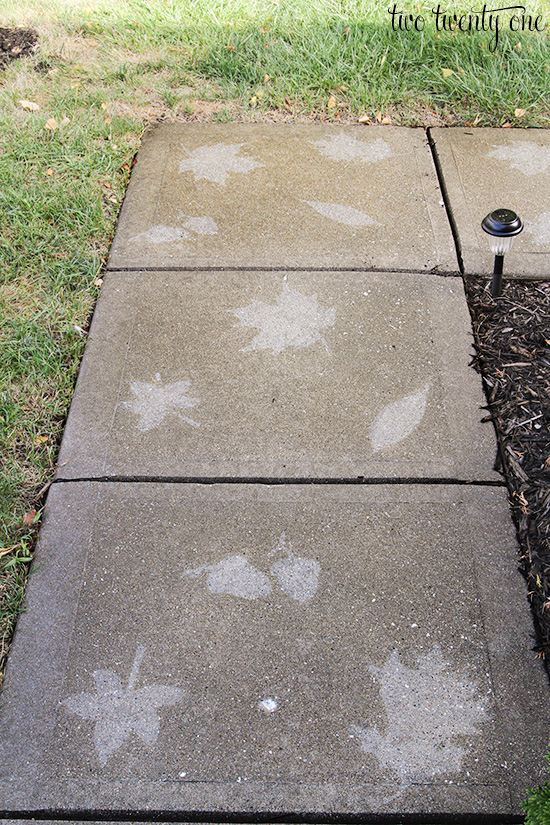 leave stencil on walkway