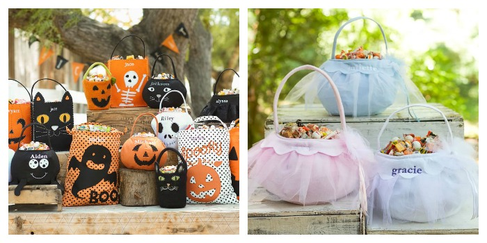 pottery barn halloween bags