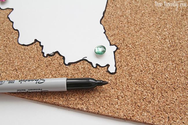 state cork board 500