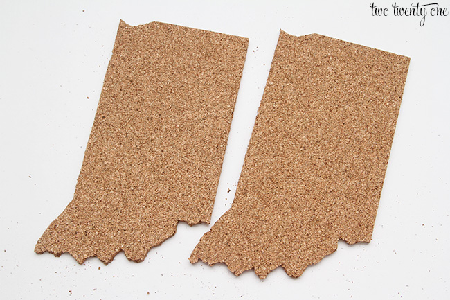 state shaped cork board 5