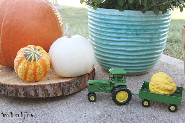 tractor with gourd