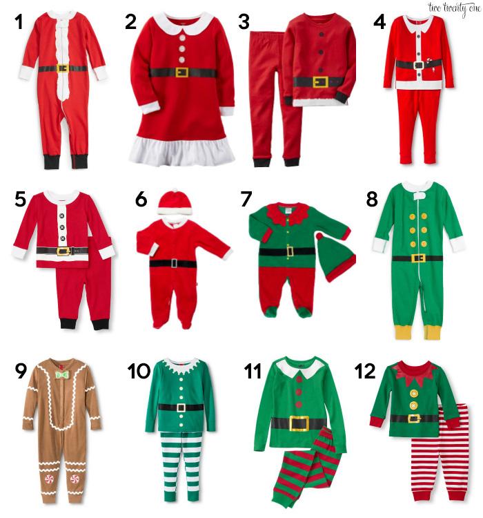 Santa elf and gingerbread man pajamas