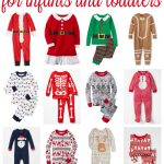 christmas pajamas for infants and toddlers