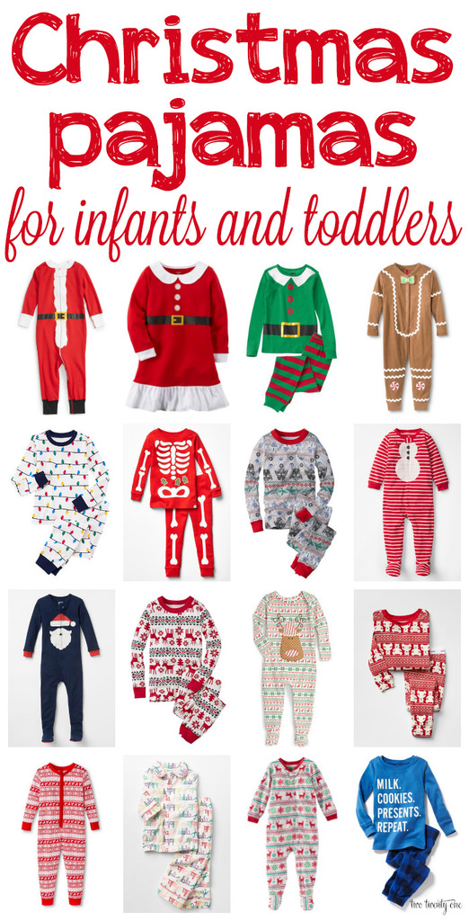 christmas pajamas for infants and toddlers so cute