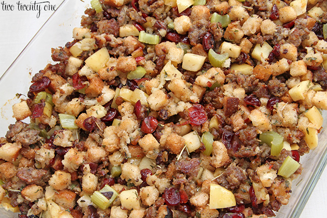 Sausage, Cranberry, and Apple Dressing