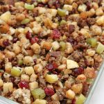 dressing with sausage cranberry apple