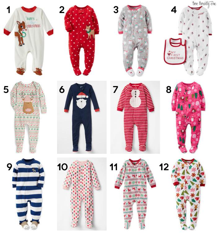 footed christmas pajamas