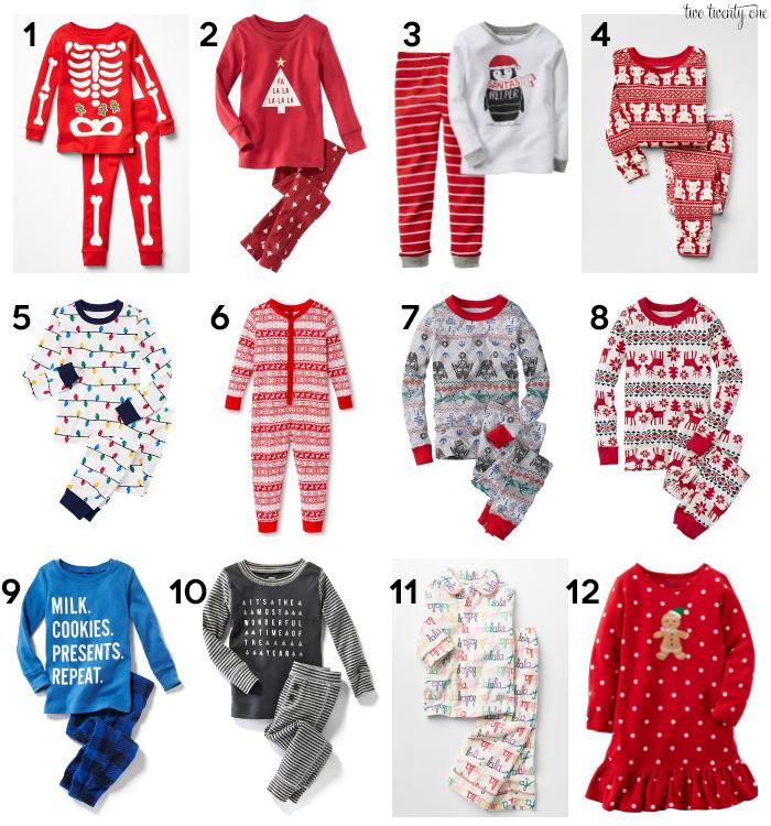 footless christmas pajamas