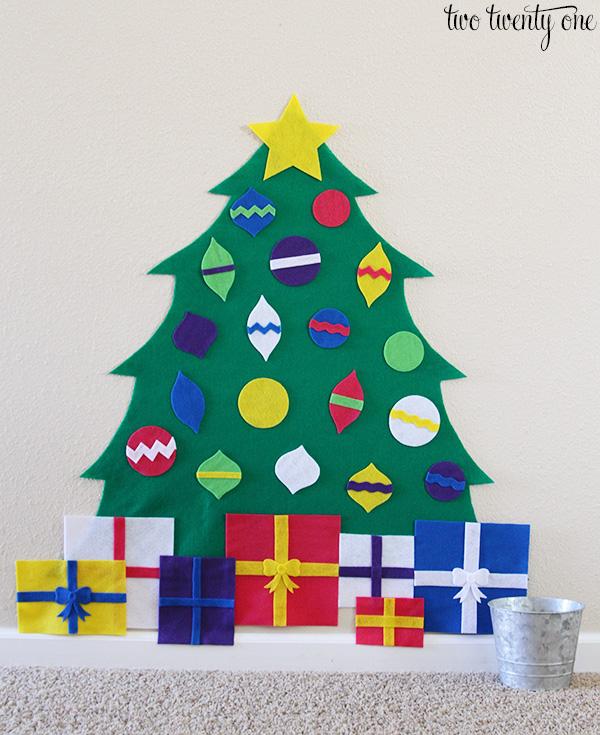 kid felt christmas tree