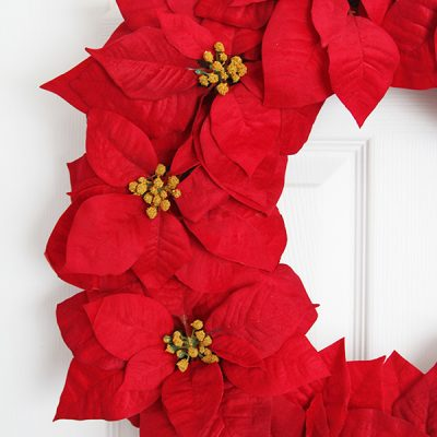 Poinsettia Wreath – DIY Christmas Tutorial