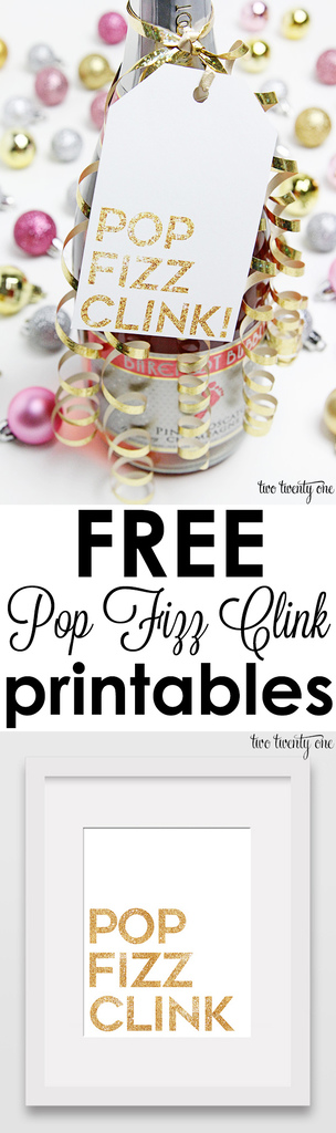 Free Pop Fizz Clink printables