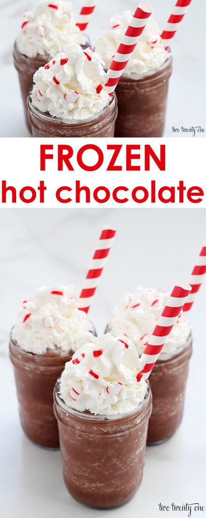 Quick and easy frozen hot chocolate