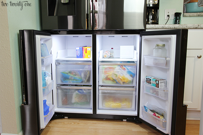 Samsung Flex Fridge lower compartments