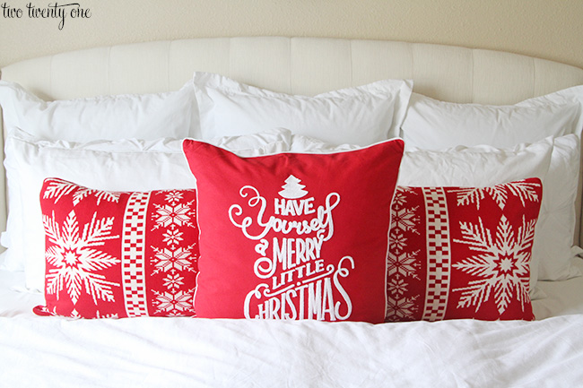 christmad bed pillows