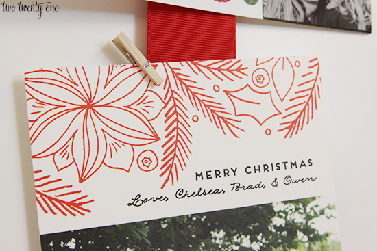 christmas card holder clip