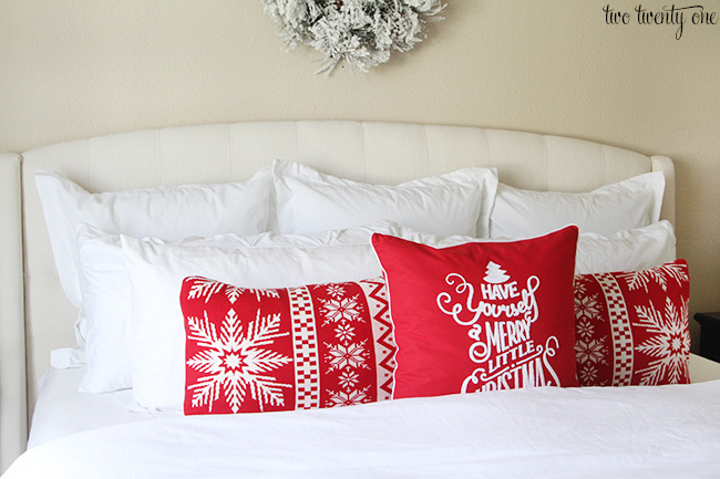 christmas pillows for bed